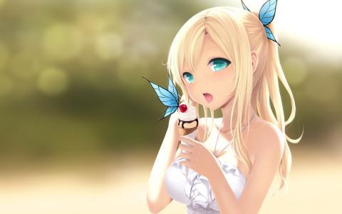 сладкое,девочка,мороженое,Boku wa tomodachi ga sukunai,kashiwazaki sena
