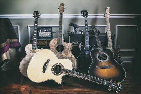 音乐,吉他,背景