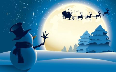 小,雪人,壁纸