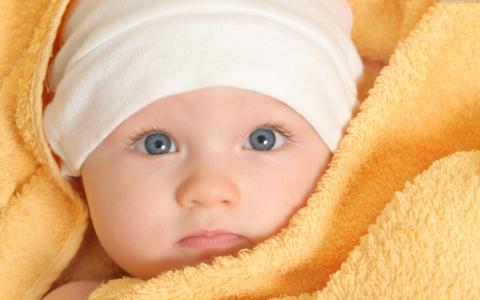 孩子,毛巾,帽子