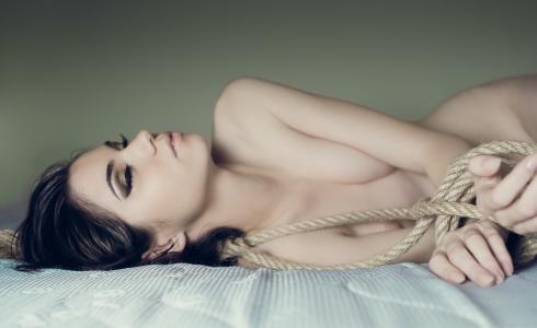 绑,绳子,女孩