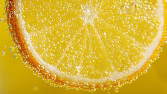 小清新柠檬水中摄影