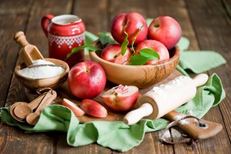 油桃,水果,糖,擀面杖,静物