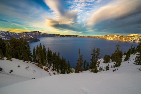 克雷特湖,奥尔根,美国,岛,湖,火山口湖,火山口湖国家公园,俄勒冈,国家公园克雷特尔湖