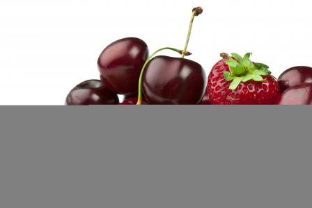浆果,草莓,樱桃,豌豆