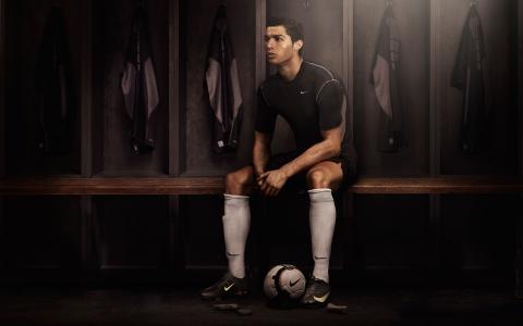 耐克,足球,更衣室,克里斯蒂亚诺罗纳尔多,黑暗,足球,球员