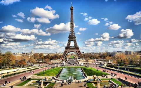 埃菲尔铁塔,巴黎,云