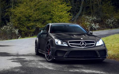 黑色系列,轿跑车,奔驰,奔驰c63,amg