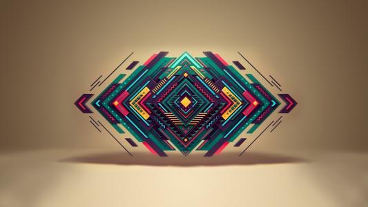 背景,几何,形状,三角形