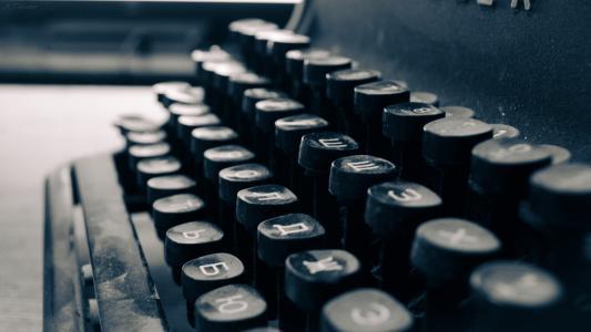 老旧复古的打字机