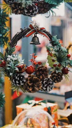 圣诞节精美花圈装饰