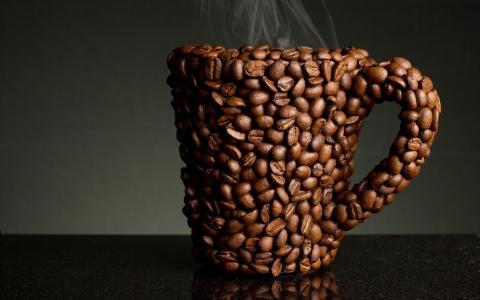 杯咖啡豆,味道