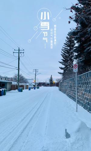 传统节气小雪已来到
