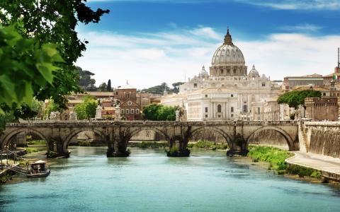 安杰洛,桥,罗马,壁纸