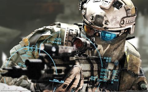 未来的士兵,士兵,武器,枪战,瞄准