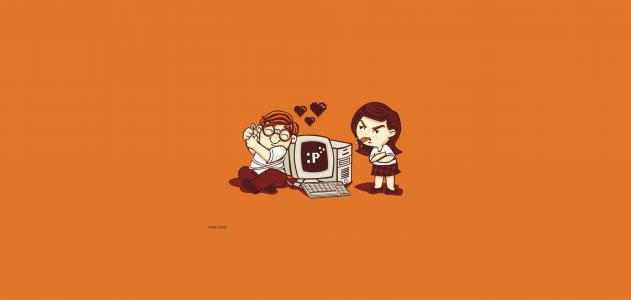 女孩,男孩,极简主义,情况