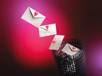 金塔,信件,心,忏悔,爱,红色,粉红色