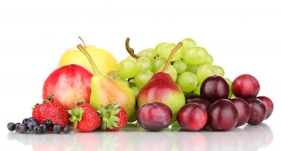 水果,草莓,蓝莓,梨,苹果,葡萄,李子,浆果