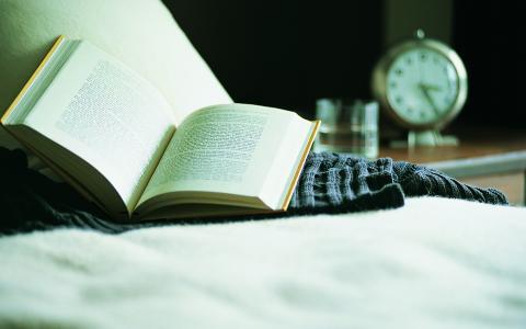 休息,书,沙发,毛衣,时钟,闹钟