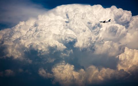横渡大西洋,VS,风暴,云,壁纸