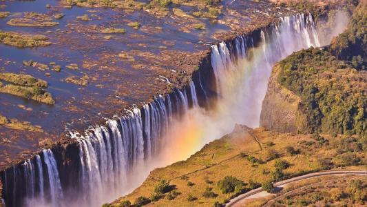 瀑布,赞比亚,壁纸