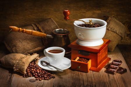 咖啡研磨机,巧克力,咖啡,咖啡豆