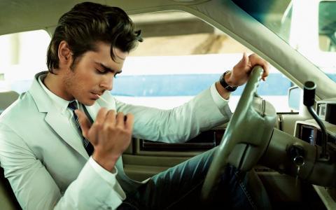 Zac Efron,演员,在车里,Zac Efron