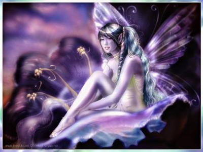 小精灵,花,翅膀