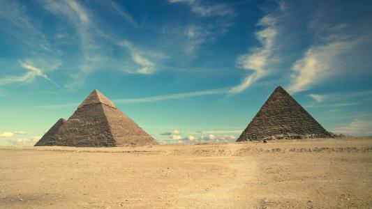 金字塔,埃及,天空