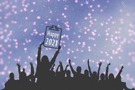 2021新年快乐背景图