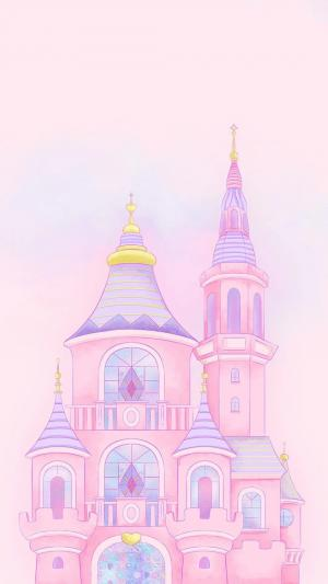 少女心浪漫手绘城堡