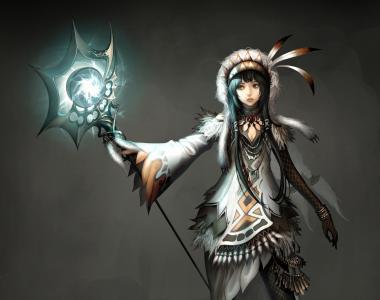 大西洋在线,女孩,钢笔,光,魔术师,幻想,游戏