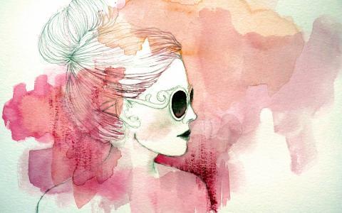 女子,肖像,壁纸