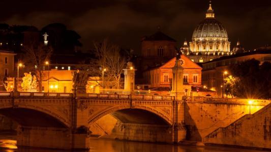 市,夜景,灯光,壁纸