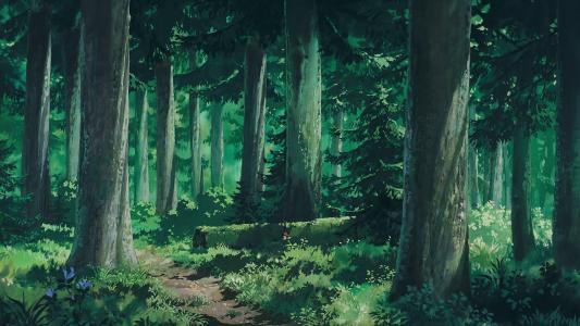 二次元幽静的森林