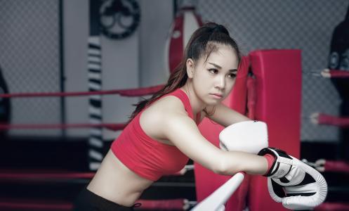 拳击,运动,女孩