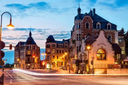 Wahwitz,Wachwitz,德国德累斯顿,德累斯顿,德国,城市,早晨,房屋,灯,光,道路