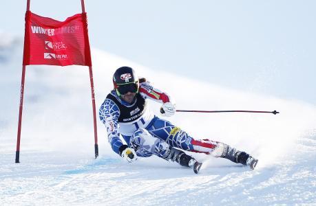 障碍滑雪,运动员,运动,滑雪