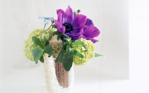 花束,花瓶