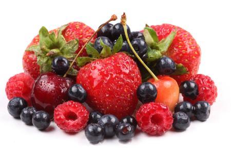 草莓,覆盆子,樱桃,蓝莓,浆果