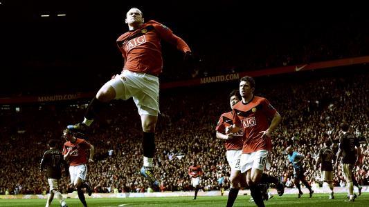 足球运动员韦恩鲁尼,足球,鲁尼,跳跃