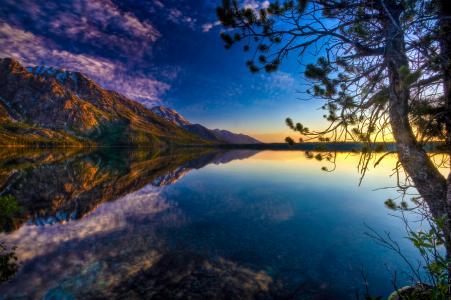 湖,全景拍摄