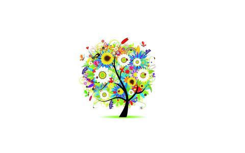 花,树,壁纸