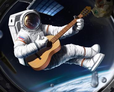 艺术,船舶,宇航员,空间