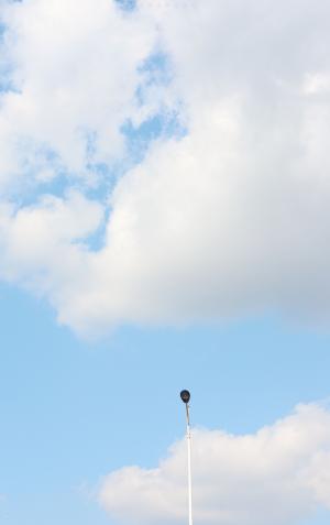 蓝天上的迷人云彩