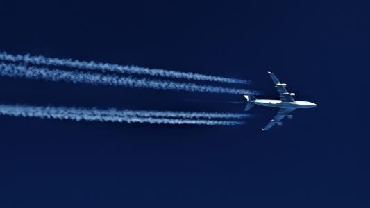 747,飞行,壁纸