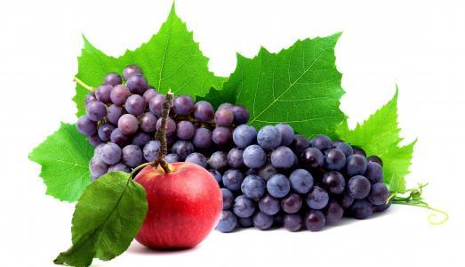 葡萄,束,苹果