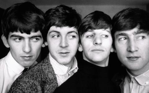 披头士乐队,黑,和,白,壁纸