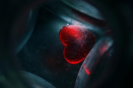 玻璃,心脏,我的生命在你的心中