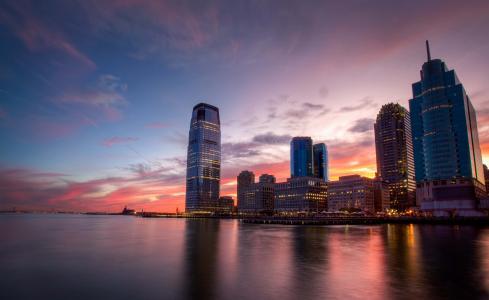 城市黄昏唯美迷人风光